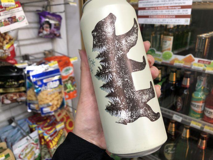 熊のイラストが可愛いWeizen Beer