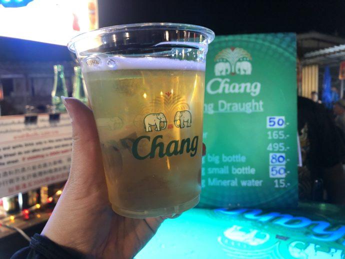 チャーンの生ビール