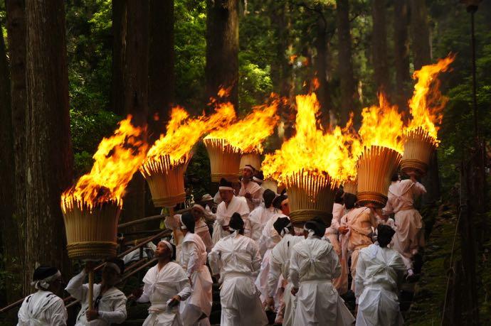 那智の火祭にて大松明