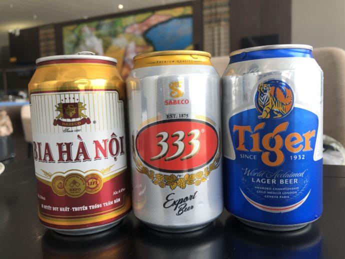 ベトナムビール3種類