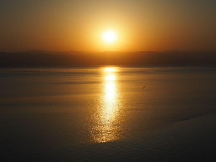 死海の夕暮れ