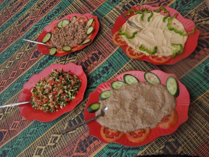 お手製料理4皿