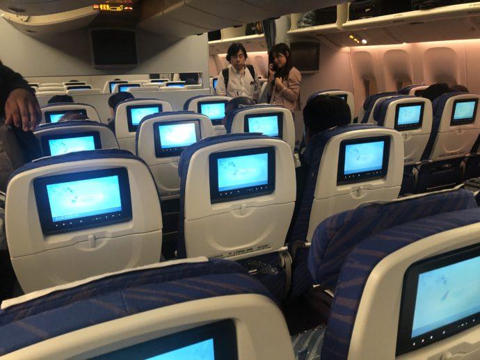 中国南方航空の機内