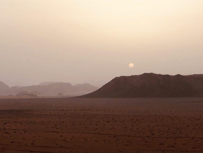砂漠のサンセット