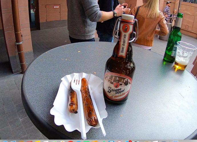 ビールとソーセージ