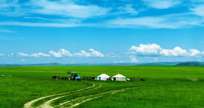 フルンボイル草原の遊牧民