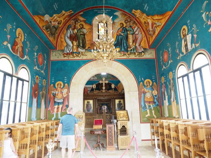 ギリシャ正教会のブルーの内部
