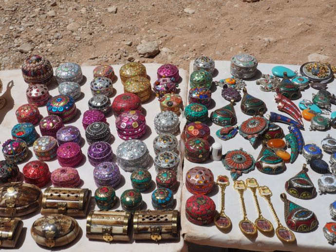 ペトラ遺跡で売られている土産物