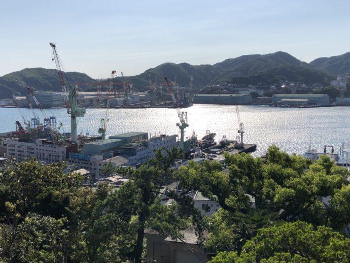 グラバー園からのぞむ長崎港