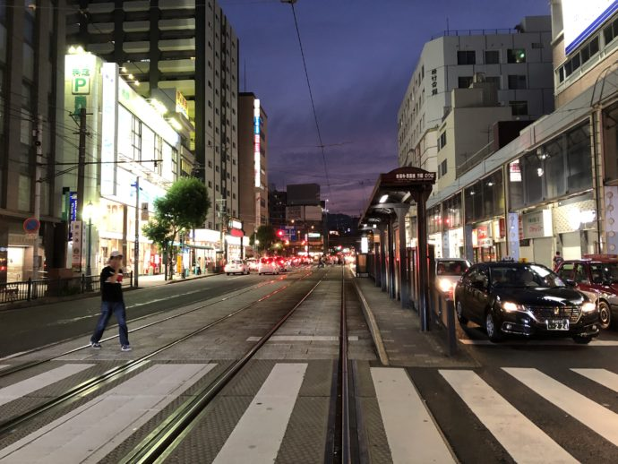 夜の長崎市街