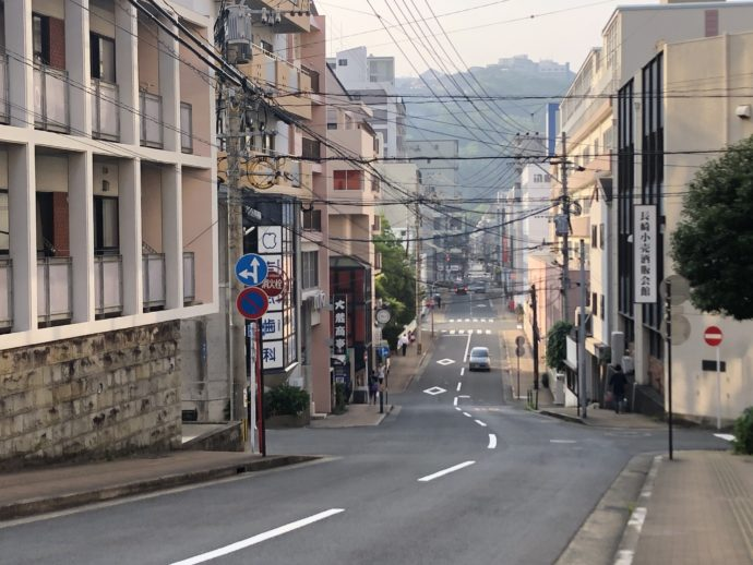 長崎市の坂道