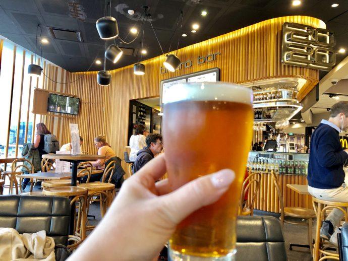 ビストロでタップビール