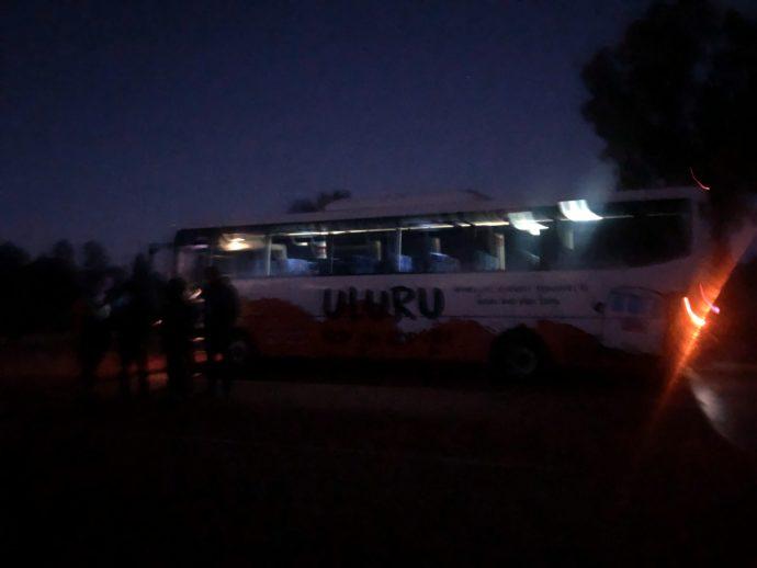 お迎えに来たバス