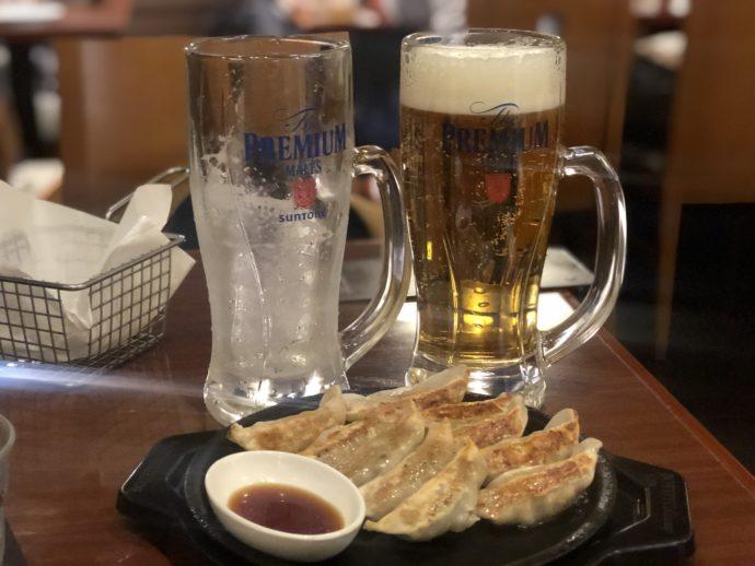 ぼてぢゅうで餃子とビール