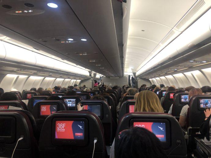 カンタス航空機内