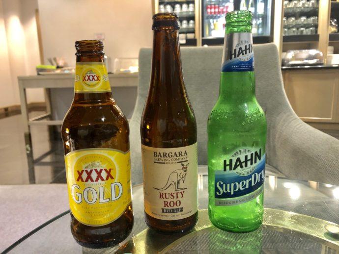 3本のオーストラリアビール