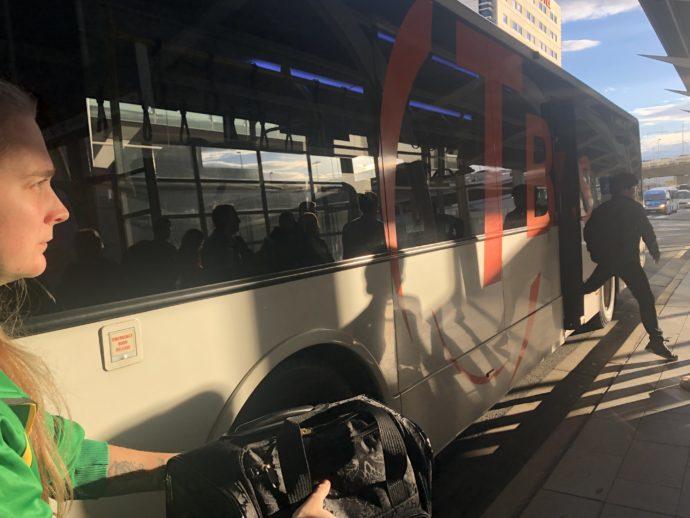 T-busでシドニーのターミナル移動