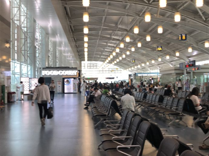 金海国際空港の待合所