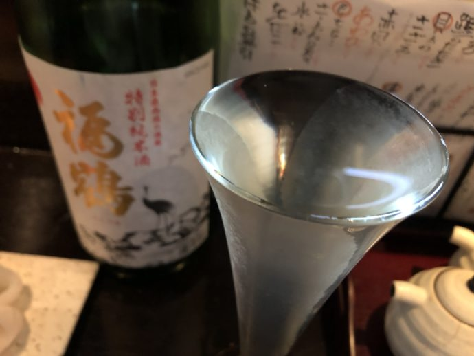 表面張力の日本酒