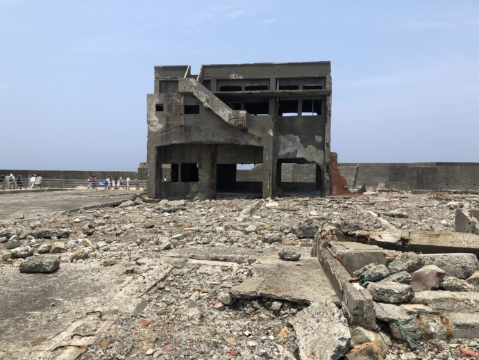 軍艦島の急工場跡