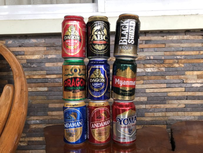 ミャンマー缶ビール9本