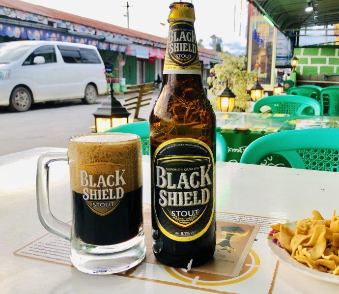 ブラックシールドの瓶ビール