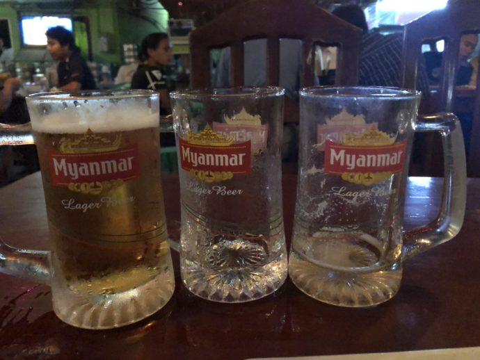 ミャンマービール3杯