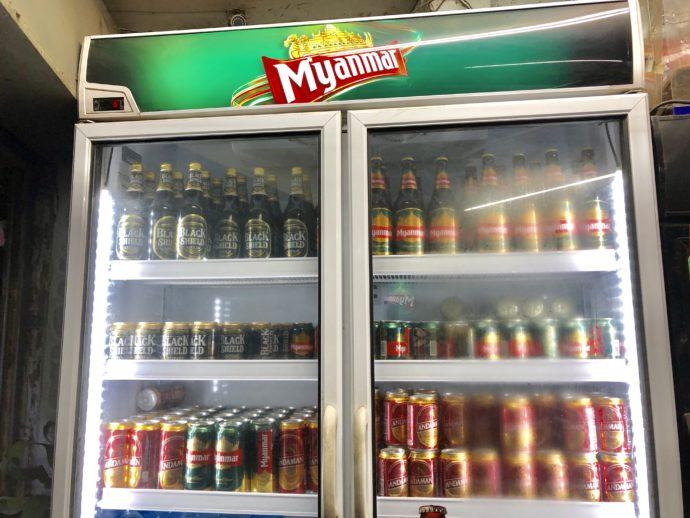 ミャンマービールの冷蔵庫