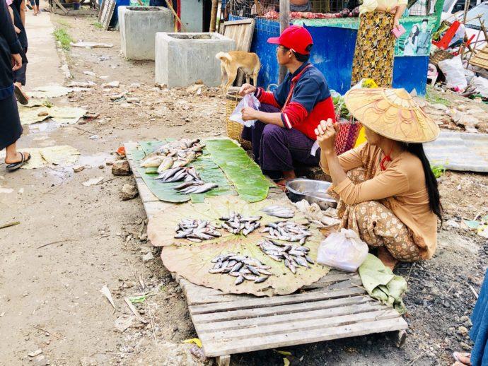 魚売りの女性