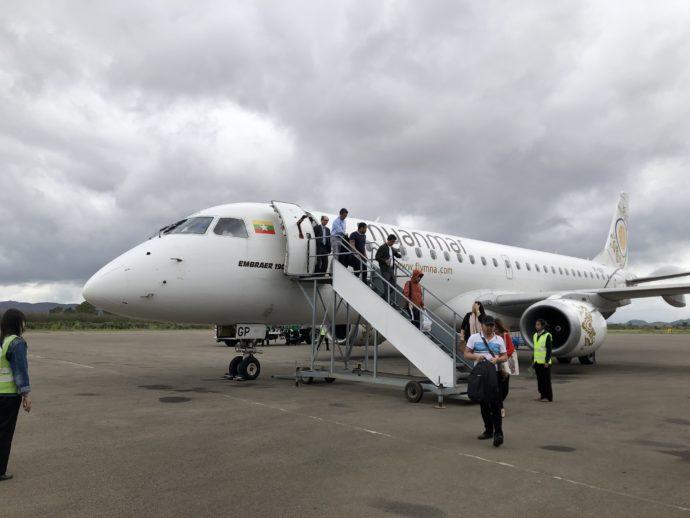 ミャンマーナショナル航空の機体