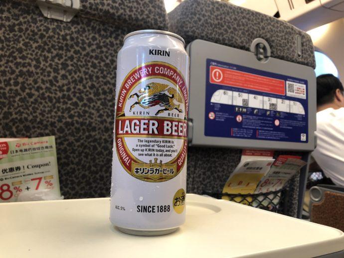 南海ラピートでビール