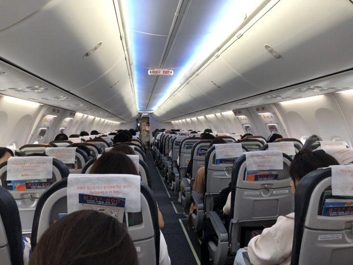 チェジュ航空の機内