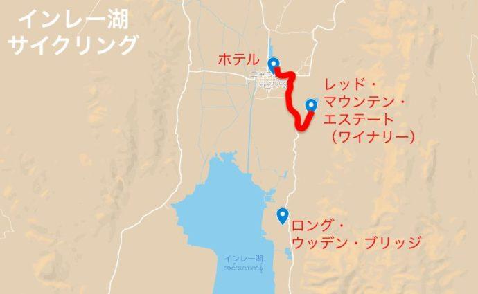 サイクリングのルートマップ