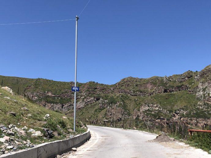 ツミンダ・サメバ教会を目指す道路