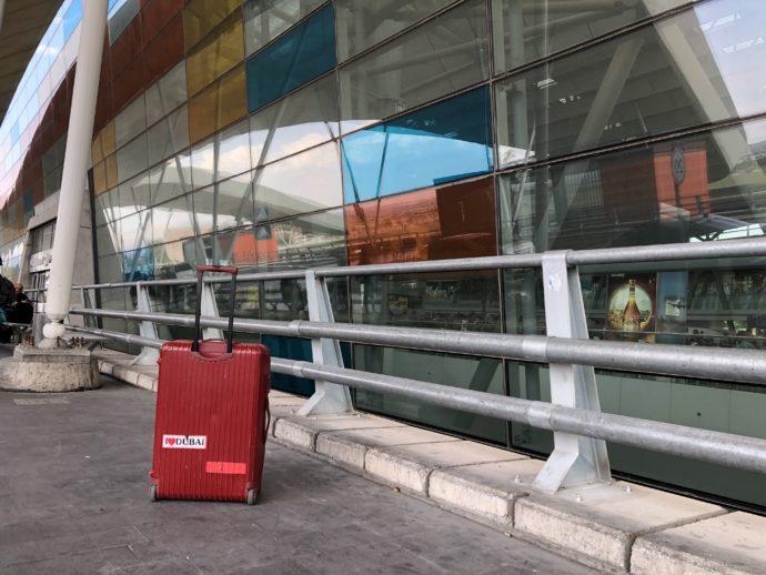 エレバン国際空港に到着