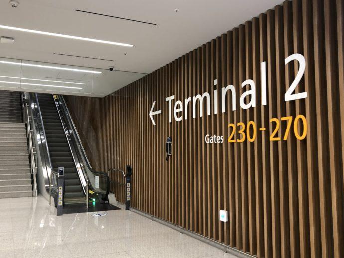 仁川空港のターミナル移動