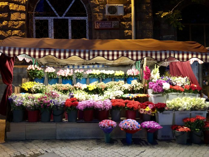 エレヴァンの花屋