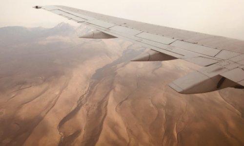 上空から眺めるコーカサスの大地