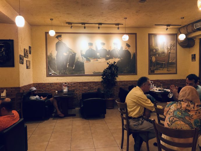 ジョージアレストランの内装