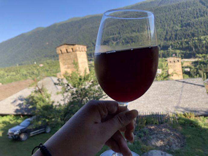 ジョージアワインと復讐の塔