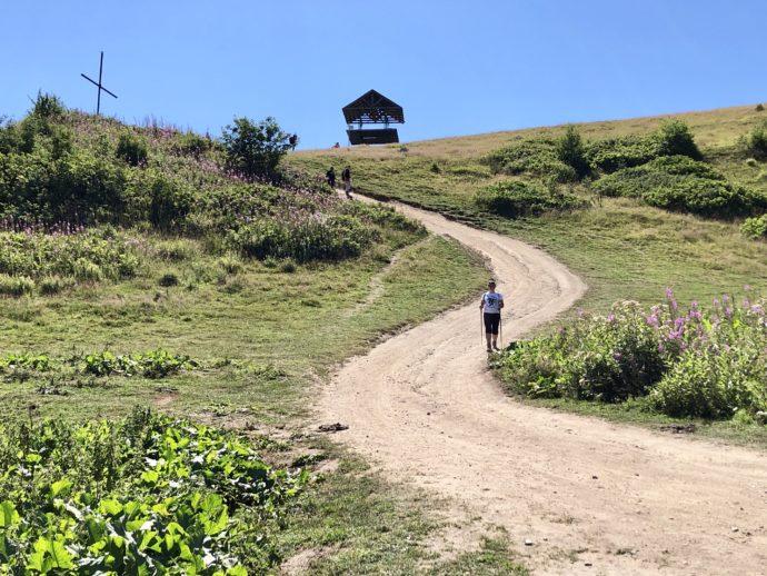 十字架の丘のトレッキングコース
