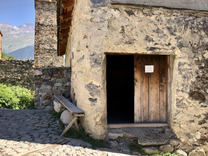 復讐の塔の博物館入り口