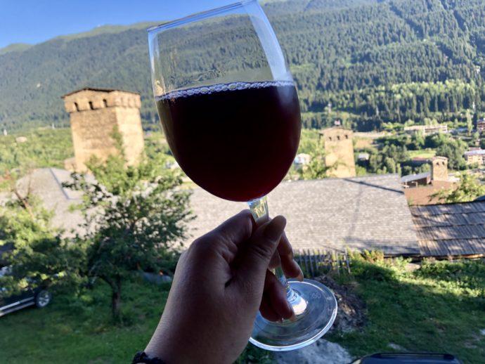 復讐の塔とジョージアワイン