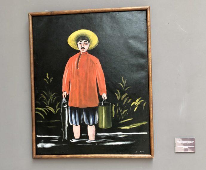 赤シャツの漁師