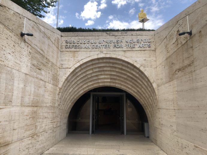 美術館の入り口