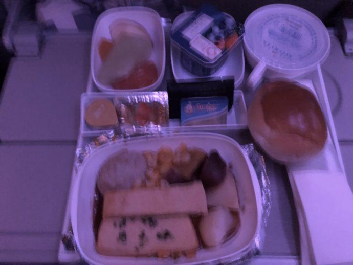 ハンバーグ機内食