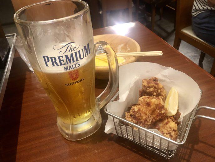 ビールとからあげ