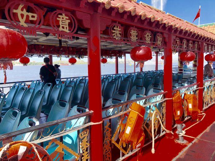 松花江の遊覧船