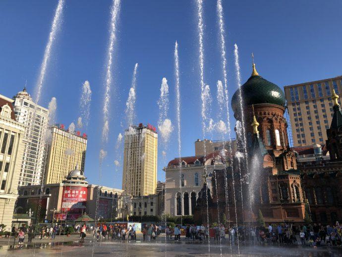 聖ソフィア聖堂の噴水ショー