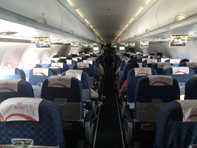 四川航空の機内